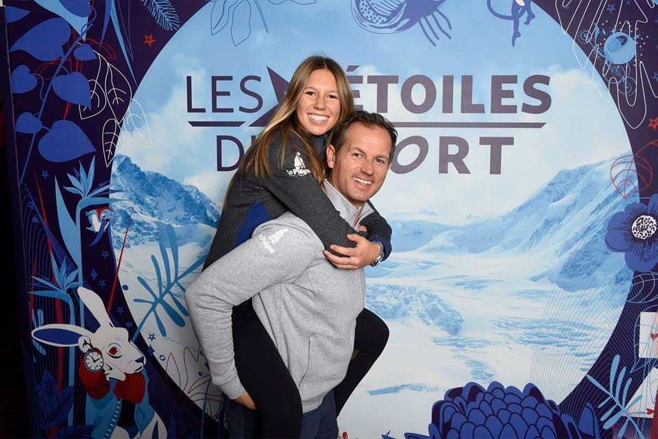 Beside Sport - Découvrez notre BESIDE GIRL: Zoé Grospiron - Zoé et son papa Edgar lors des Etoiles du Sport 2017 -