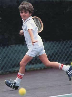 Beside Sport - Le «Futur du tennis» par Alex Corretja - Andre Agassi enfant -