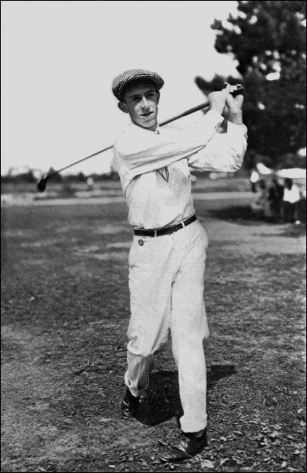 Beside Sport - Francis Ouimet, premier amateur à remporter l'US Open de golf - Le jeune Francis Ouimet en action -