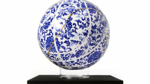 Un ballon de basket en porcelaine pour 2500 dollars