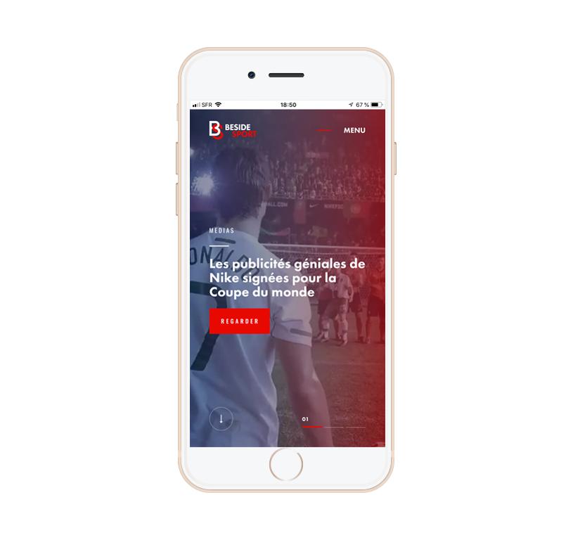Beside Sport - Progressive web application (PWA) -  -