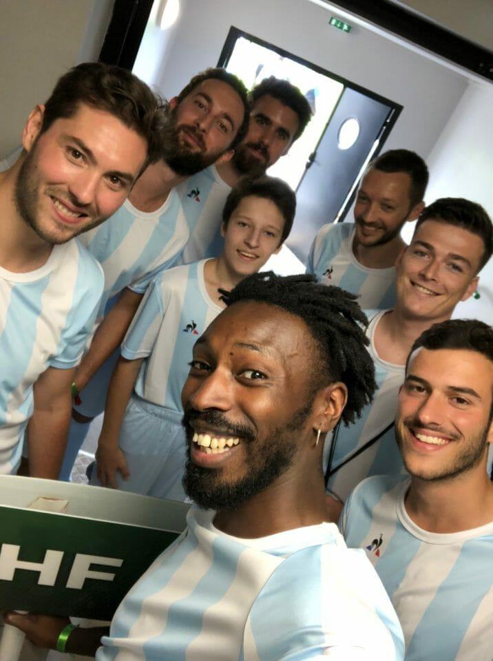 Beside Sport - Le Coq Sportif nous présente le nouveau maillot des Verts - A nous de représenter au mieux PHF, les Pompiers Humanitaires Français -