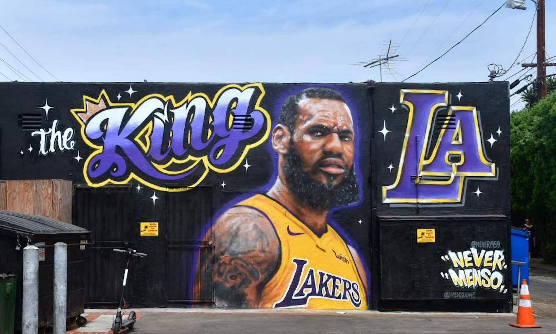 Quand les stars du sport s'affichent sur une fresque murale