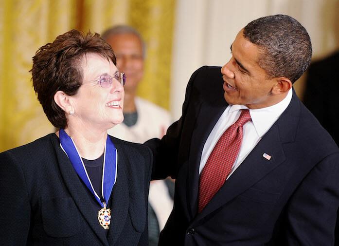 Beside Sport - Retour sur un monstre du sport: Billie Jean King alias «la grande Dame du tennis» - Ici avec l'ancien Président des USA, Barack Obama -