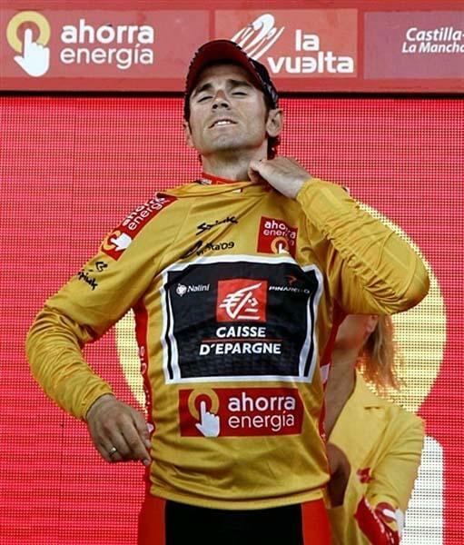 Beside Sport - Le maillot de leader de la Vuelta n'a pas toujours été rouge - L'Espagnol Alejandro Valverde remporte la Vuelta en 2009 -