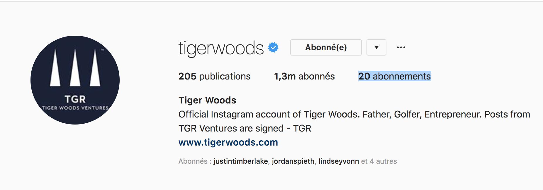 Beside Sport - Notre «InStargram» de la semaine: Tiger Woods -  -