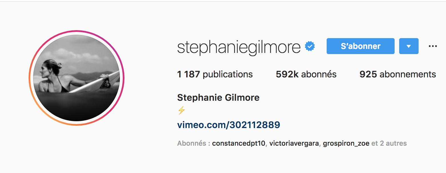 Beside Sport - Notre «InStargram» de la semaine: Stephanie Gilmore -  -