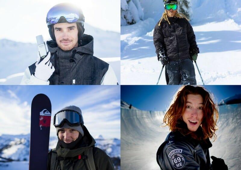 Beside Sport - «Sportive is a Lifestyle» par Marie Martinod - De gauche à droite et de haut en bas, Kevin Rolland, Tanner Hall, Candide Thovex et Shaun White -