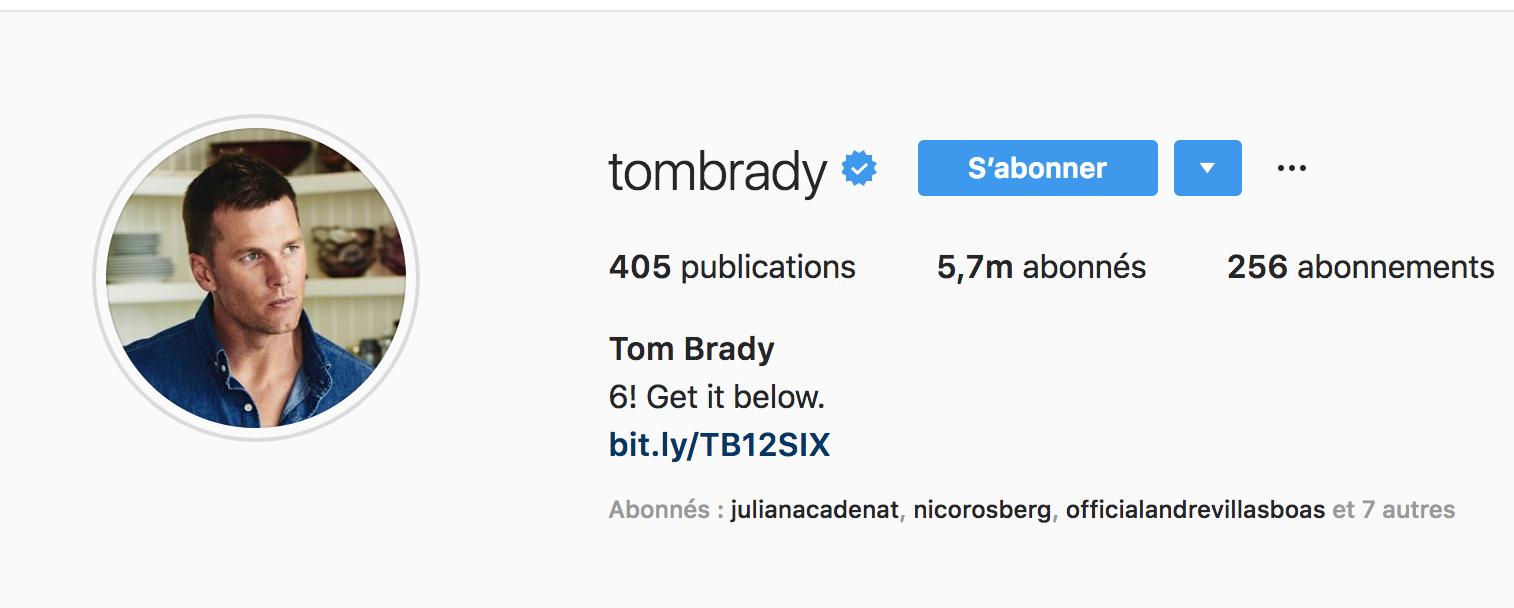 Beside Sport - Notre «InStargram» de la semaine: Tom Brady -  -