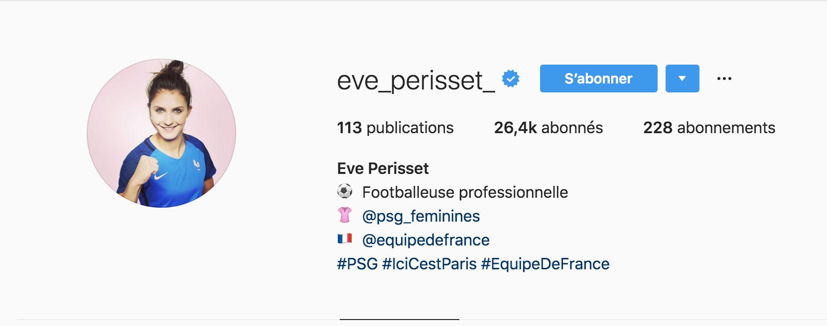Beside Sport - Notre «InStargram» de la semaine est: Eve Perisset -  -