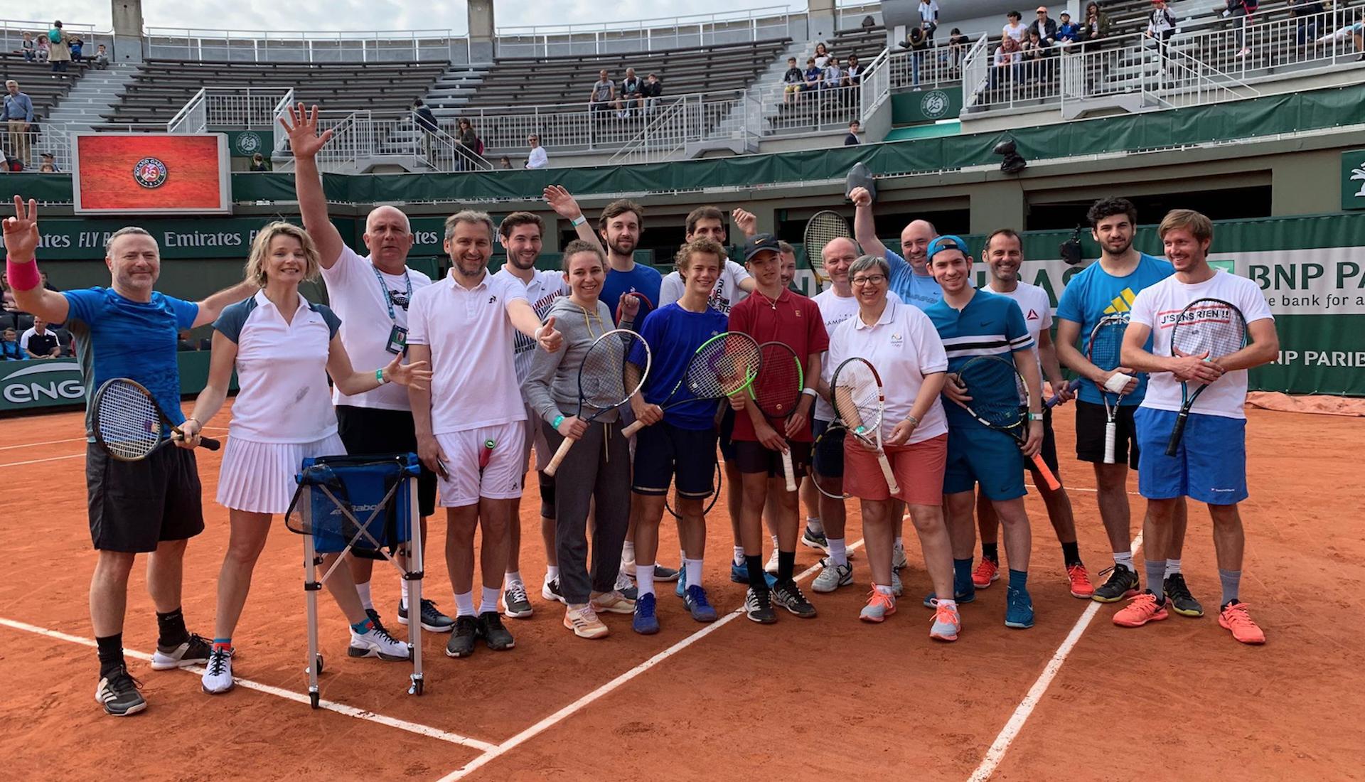 Un moment unique sur le court n°1 de Roland-Garros