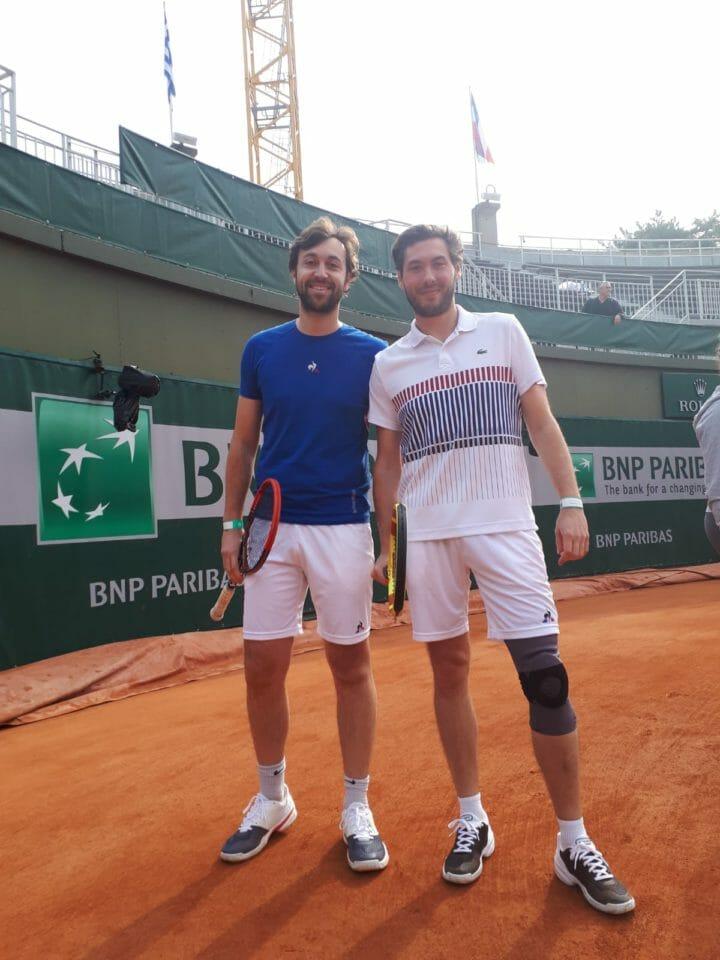 Beside Sport - Un moment unique sur le court n°1 de Roland-Garros - La team Beside Sport a pu fouler le court N°1 pour une des dernières fois -