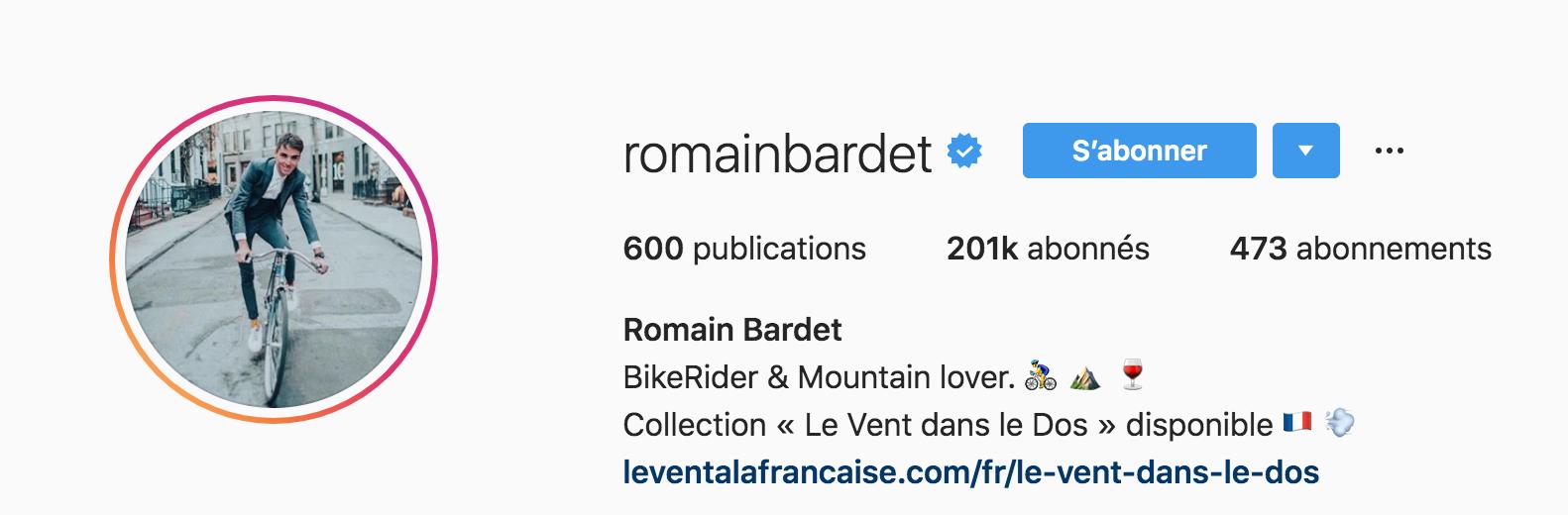 Beside Sport - Notre «InStargram» de la semaine: Romain Bardet -  -