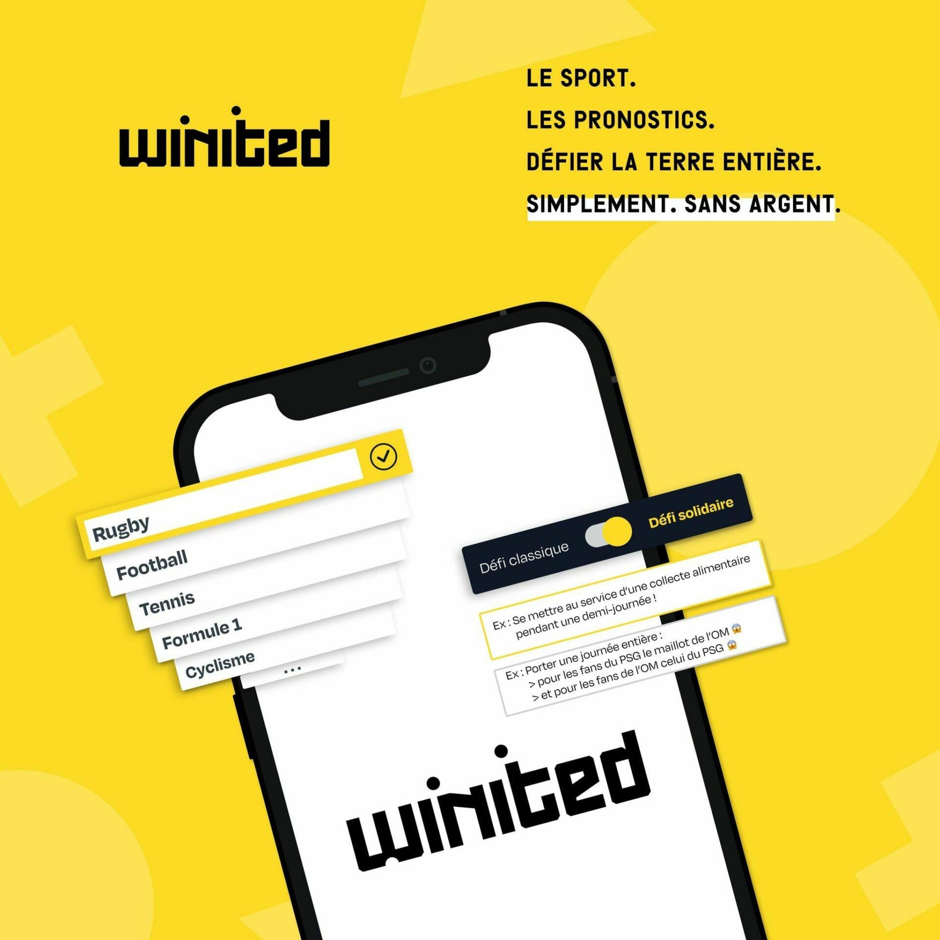 Winited: L'app de paris que les fans de Sport attendaient