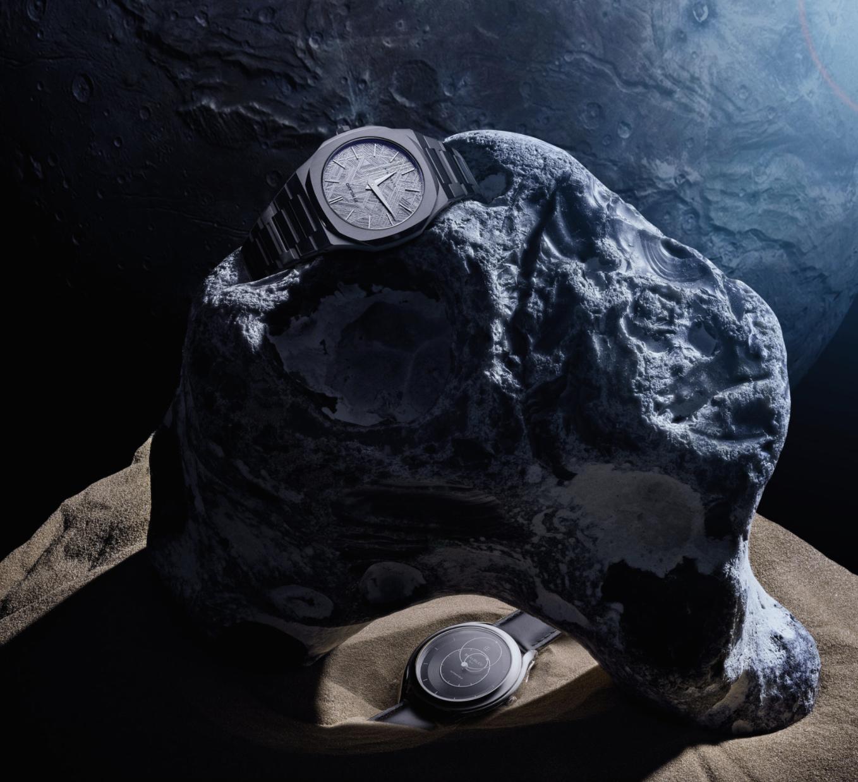 Beside Sport - Montres aventurières - De haut en bas: D1 Milana The Meteorite Limited Edition Ultra Thin – Beaubleu Le Lumineux -