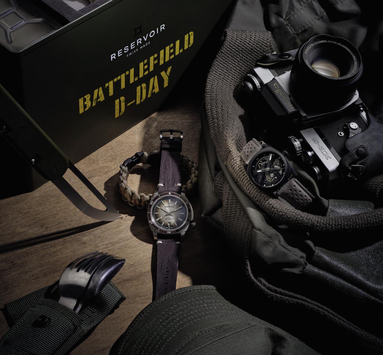 Beside Sport - Montres aventurières - De gauche à droite: Reservoir Battlefield D-Day – Anonimo Nautilo Vintage – Code 41 Day41 -
