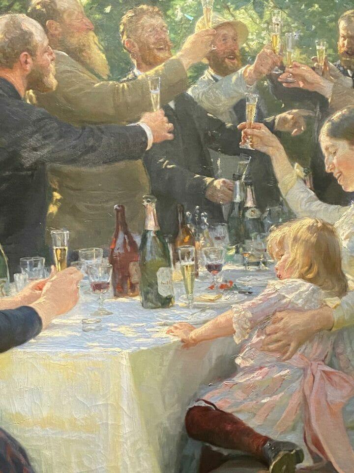 Beside Sport - Krøyer, le peintre danois «incrøyable» - Hip, Hip, Hurrah! est une peinture à l'huile sur toile de 1888 -
