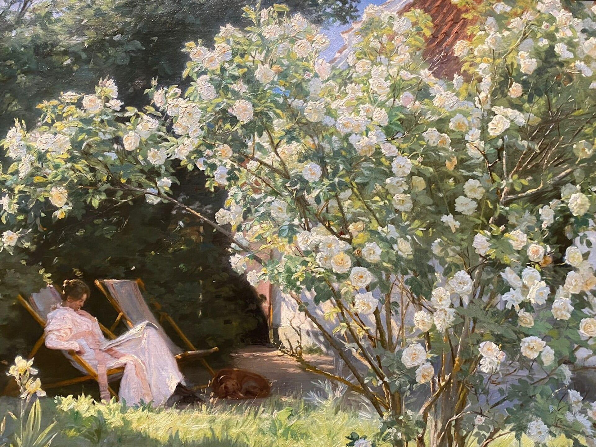 Beside Sport - Krøyer, le peintre danois «incrøyable» - Roses est un tableau peint par Peder Severin Krøyer en 1893 -
